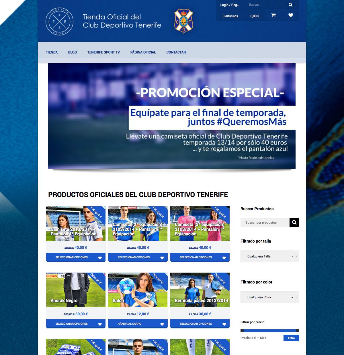 Tenerife Sport - Tienda Oficial del Club Deportivo Tenerife