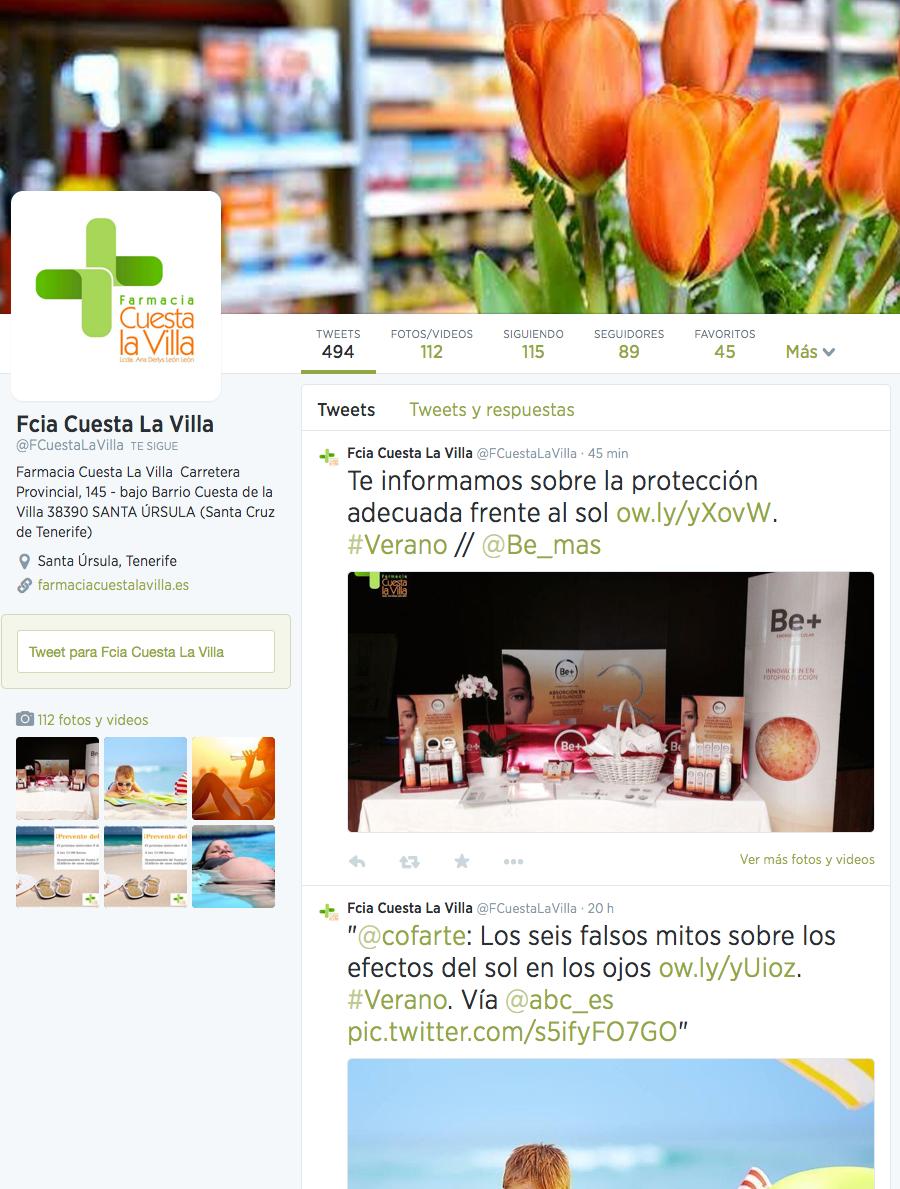 Farmacia Cuesta La Villa - Twitter