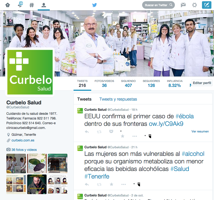 Curbelo Salud - Twitter