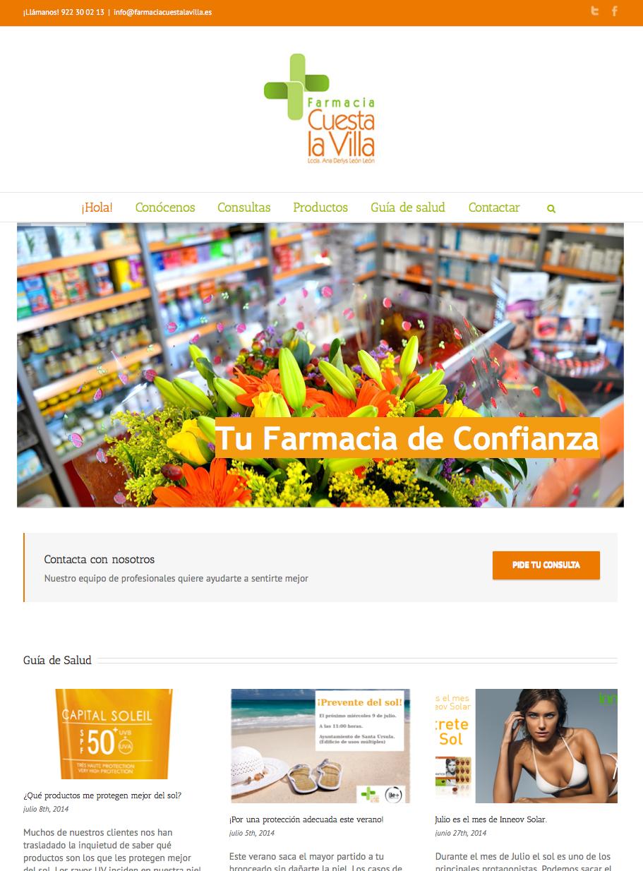 Farmacia Cuesta La Villa - Web / Blog