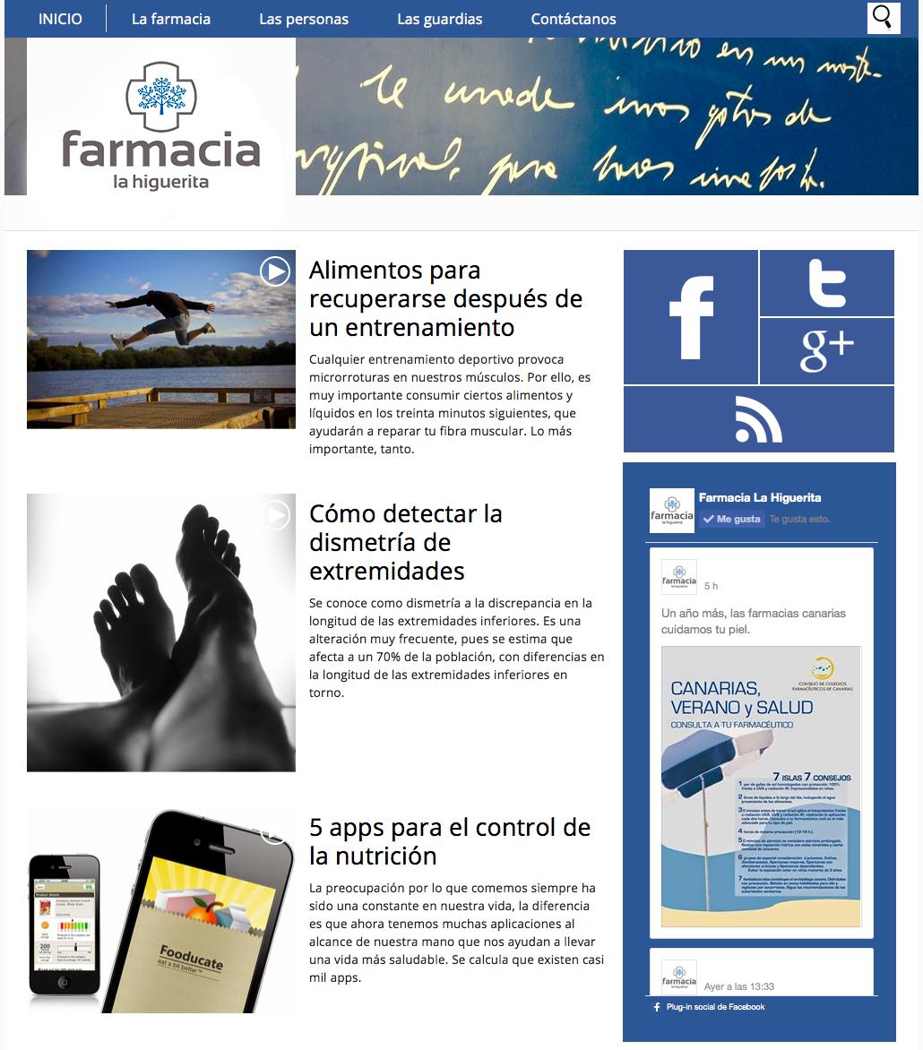 Farmacia La Higuerita - Web / Blog