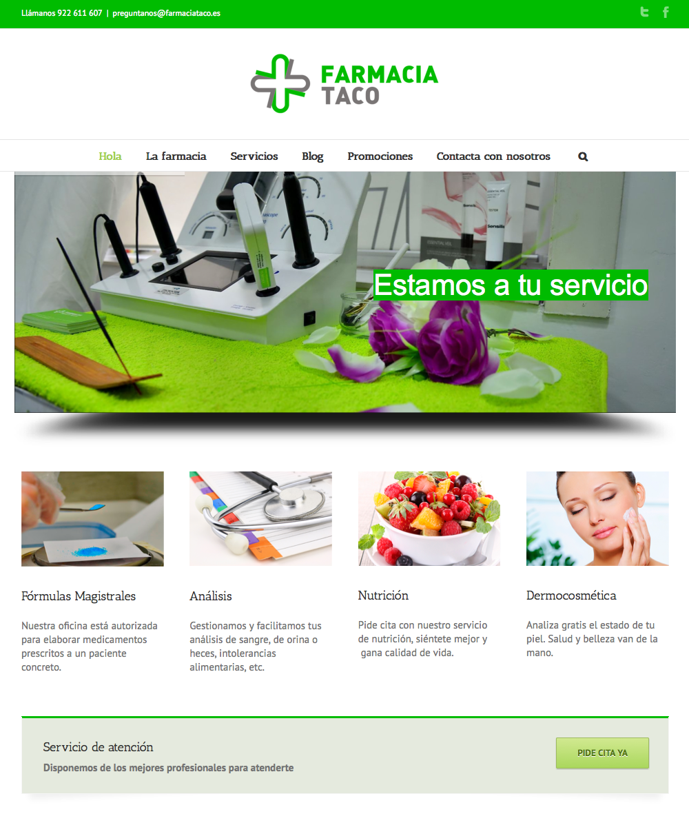 Farmacia Taco - Web / Blog